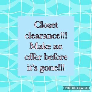 Other - Closet clean out sale! Two days only!